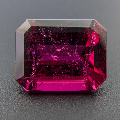 Tourmaline (Rubellite). 2.35 Carat. Fine colour! Very well cut and proportioned. A rare beauty.