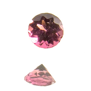 Tourmaline (Rubellite). 1 Piece. Round, very very small inclusions