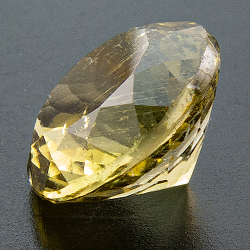 Tourmaline. 2 Carat. Round, distinct inclusions
