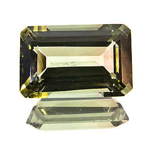 Tourmaline (Verdelite) from Brazil. 3.04 Carat. slightly bi-coloured