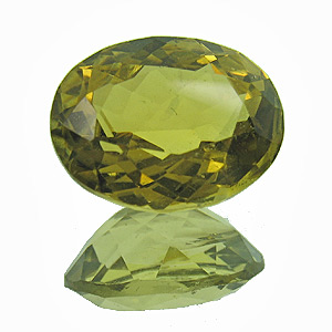 Yellow Tourmaline. 1.98 Carat. Oval, very small inclusions