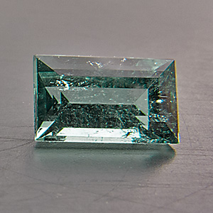 Tourmaline (Indigolite) from Namibia. 0.49 Carat. from the brandberg mountain, well-known source of fine tourmalines