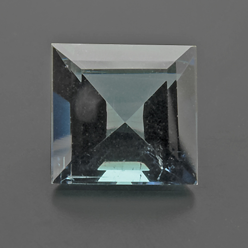 Tourmaline (Indigolite) from Namibia. 0.9 Carat. Square, very small inclusions