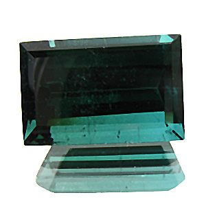 Tourmaline (Indigolite) from Nigeria. 4.63 Carat. Baguette, very small inclusions