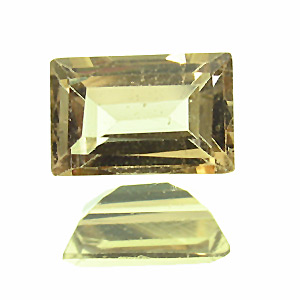Tourmaline. 0.6 Carat. Baguette, very small inclusions