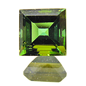 Tourmaline (Verdelite) from Africa. 1.45 Carat. Square, very very small inclusions