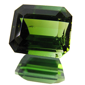 Tourmaline (Verdelite) from Pakistan. 6.87 Carat. Emerald Cut, small inclusions