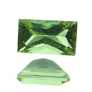 Tourmaline (Verdelite). 1 Piece. Baguette Princess, very small inclusions