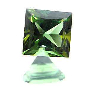 Tourmaline (Verdelite) from Congo. 0.8 Carat. Square Princess, very small inclusions