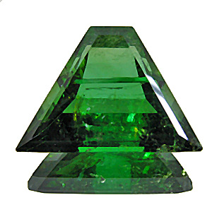Tourmaline (Verdelite) from Congo. 10.84 Carat. Trapezoid, distinct inclusions