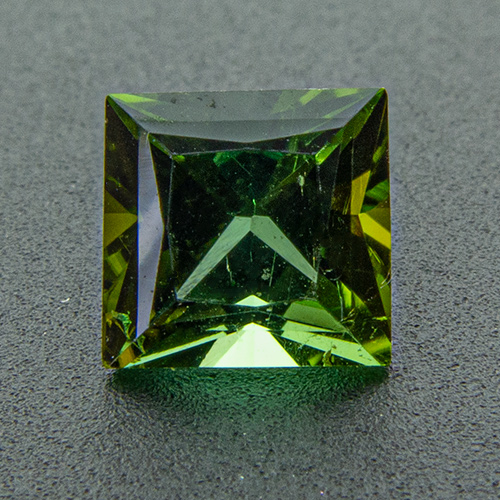 Tourmaline (Verdelite) from Congo. 0.87 Carat. Square Princess, very very small inclusions