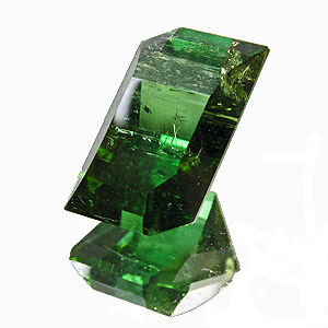Tourmaline (Verdelite) from Congo. 3.89 Carat. Fancy Cut, very distinct inclusions