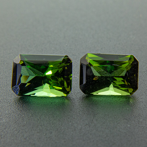 Tourmaline (Verdelite) from Congo. 1.35 Carat. Very well matched and well cut pair.