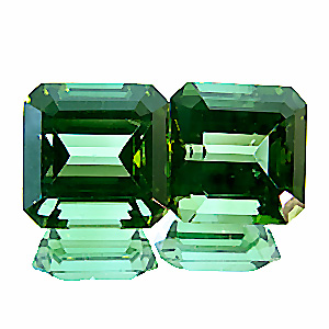 Tourmaline (Verdelite) from Brazil. 9.1 Carat. perfect pair, by one of germany´s best gem cutters