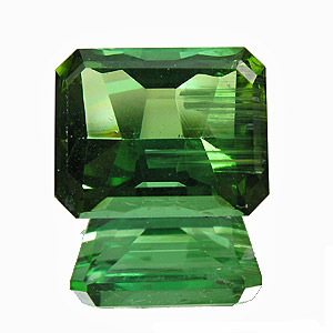 Tourmaline (Verdelite) from Congo. 3.32 Carat. Emerald Cut, distinct inclusions