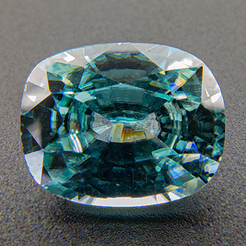 Zircon (Starlite) from Cambodia. 4.49 Carat. Cushion, eyeclean