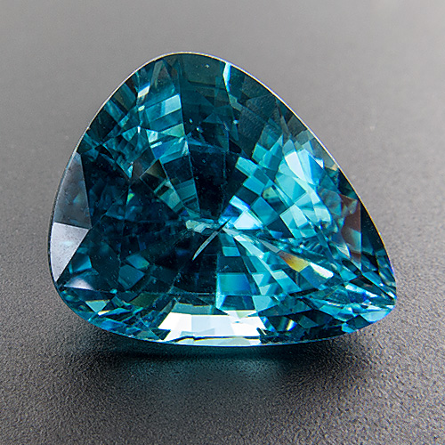 Zircon (Starlite) from Cambodia. 10.22 Carat. Pear, very small inclusions