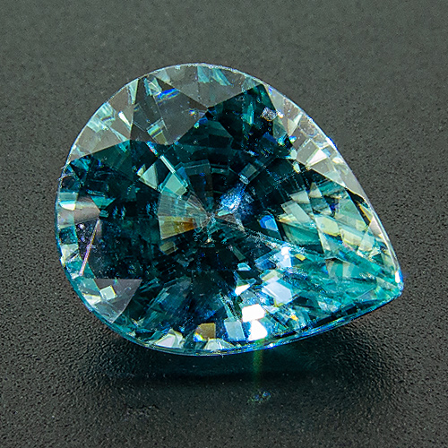 Zircon (Starlite) from Cambodia. 4.01 Carat. Pear, very very small inclusions