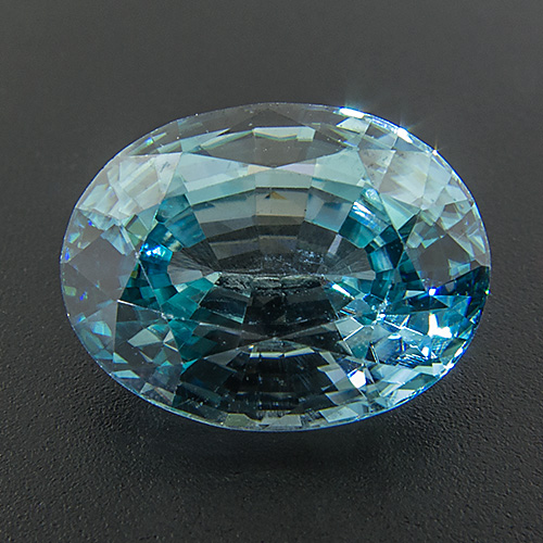 Zircon (Starlite) from Cambodia. 4.35 Carat. Oval, eyeclean