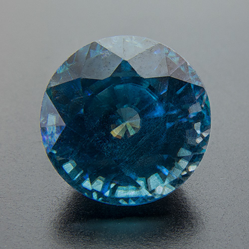 Zircon (Starlite) from Cambodia. 3.3 Carat. Round, distinct inclusions