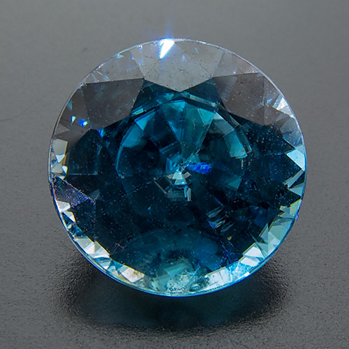 Zircon (Starlite) from Cambodia. 3.38 Carat. Round, distinct inclusions