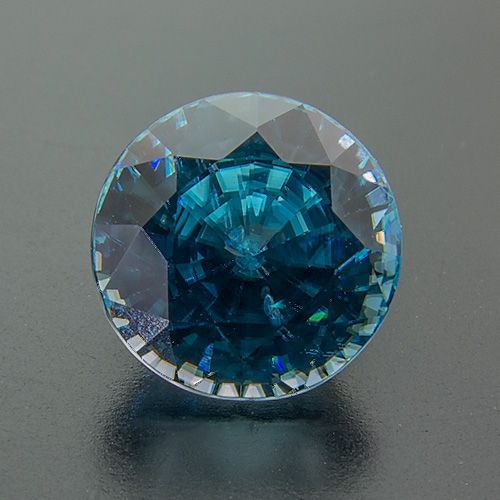 Zircon (Starlite) from Cambodia. 3.54 Carat. Round, very very small inclusions